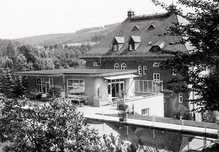 Die Villa Max Pfau von der Rückseite in den 1930er Jahren