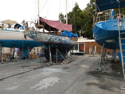Marina, bateaux rénovation