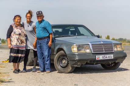 First hitchhike in Kyrgyzstan