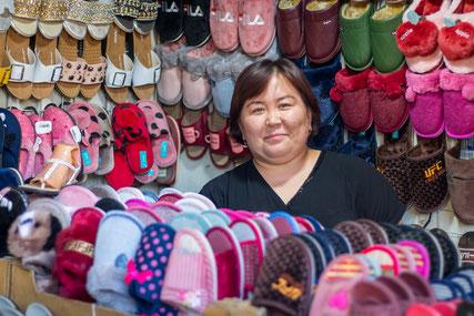 First impressions of the Osh market in Bishkek