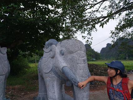 Rückweg zum Hotel in Tam Coc