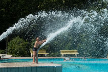 Badespaß im Freibad © Stadt Straubing
