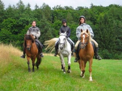 """Rindill und Litla, Clara und Anti und Sandra und Nelly auf dem ersten richtigen 3-Tages-Wanderritt """"Hohenstein"""""""