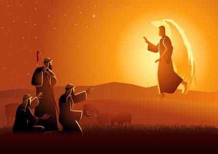 Den Hirten wird Frieden auf Erden verkündigt