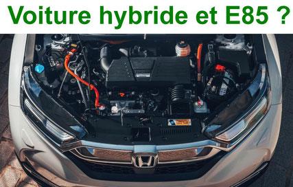 Véhicule hybride E85