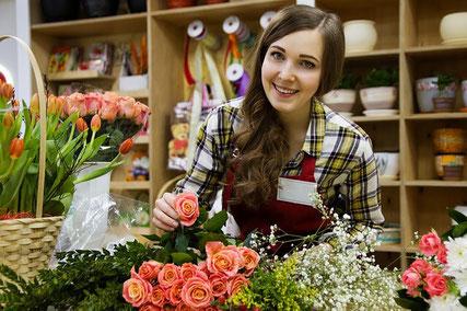 Happy florist.