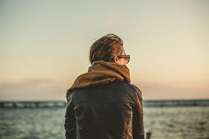 Woman alone.