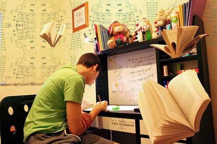 Man studying.