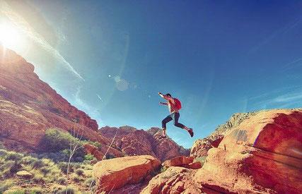 Man hiking.