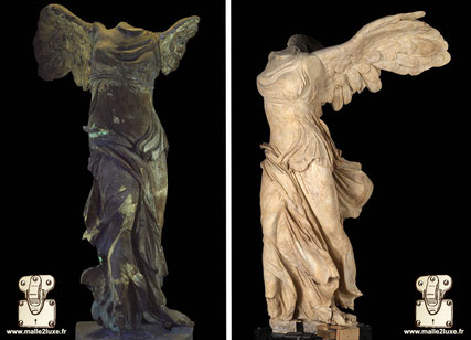 Restoration of the statue of The Victory of Samothrace - around 190 BC.