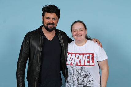 Photo op with Karl Urban