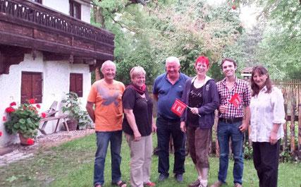 v.l. Rudi Schwab (Grüne), Gabi Zaglauer-Swoboda (Grüne), 2. BGM Alfred Widmann (SPD), Birgit Schmidl (SPD), Matteo Dolce (SPD), Ursula Schultze (FDP/FWG)