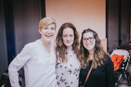 De izquierda a derecha, Ana, María y Esther, las tres asesoras de nuestro grupo de apoyo a la lactancia materna en Sant Joan Despí