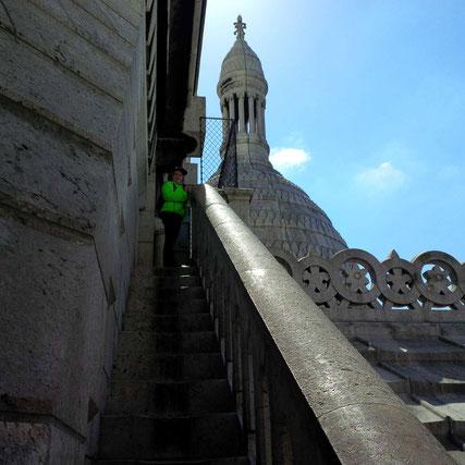 Auf dem Dach des Sacré-Coeur spazieren....