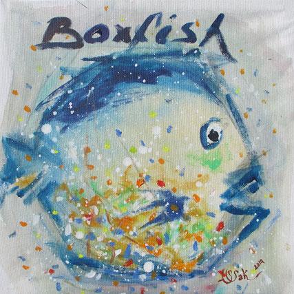 2. Box fish       Huile sur toile                                                 51 x 40.5 cm                                                     2014