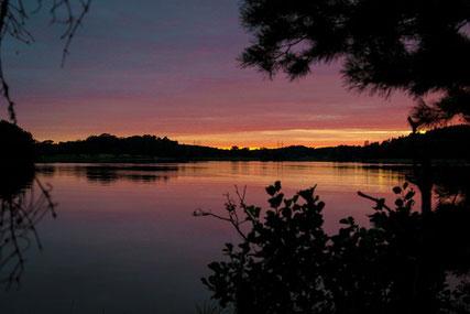 Malerischer Sonnenuntergang Schweden