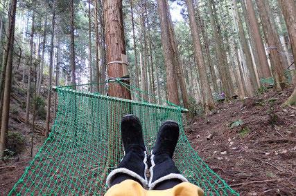 森の中でハンモックも楽しみましょう