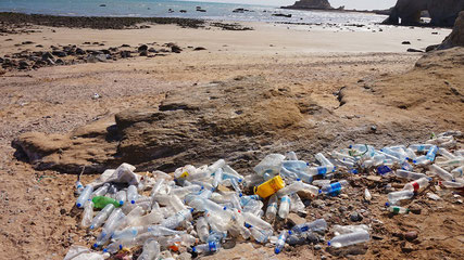 Hormuz, Iran plastic pollution beach clean
