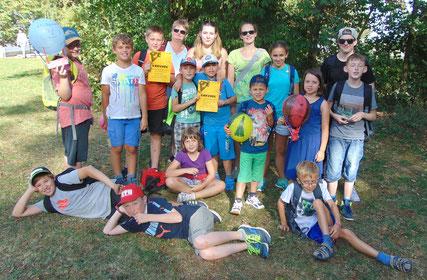 Die Gruppe der Andreasgemeinde beim Jungscharballontag // Foto: Sahnwaldt