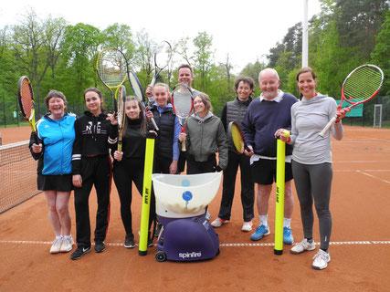 Unsere neue Ballmaschine für unseren Tennisclub Florentine in Edemissen