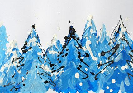 Winterwonderland Karte für die Stiftung Kinderhilfe Sternschnuppe
