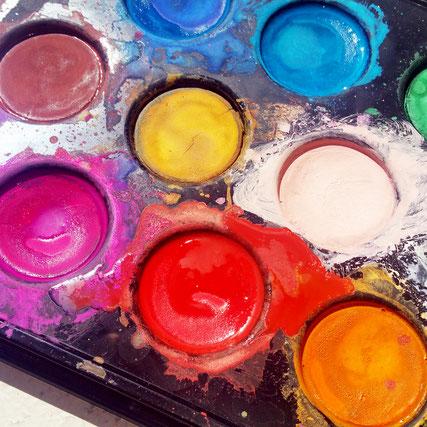 Farbige Grusskarte von UH-ART Design
