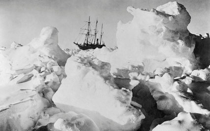 Ernest Shackleton's Ship Endurance Trapped in Ice. PH CREDIT: BETTMANN