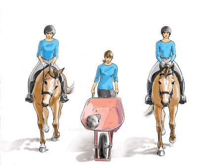 Als jij scheef zit, dan loopt je paard ook scheef