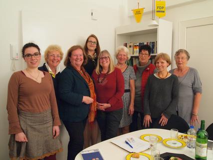 ADF bei der FDP Darmstadt mit Cornelia Diekmann ( ADF Vorsitzende) und Dr. Ursula Blaum (FDP Darmstadt)