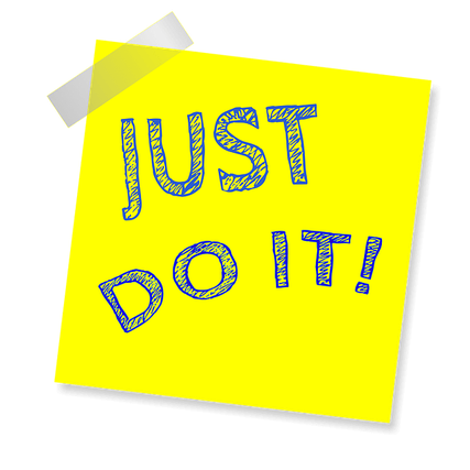 Just do it post-it.