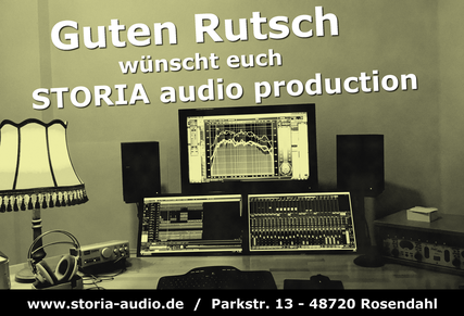 STORIA audio production, Tonstudio Münsterland, Tonstudio Westmünsterland, Frohes neues Jahr, STORIA, Rosendahl, Kreis Coesfeld