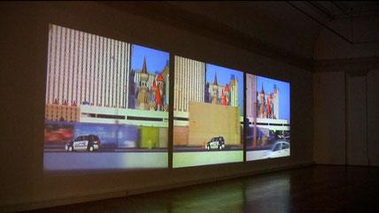 3 channel video installation, Landesgalerie Linz, 2010