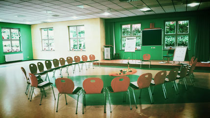 Seminarraum, Stuhlkreis, Fortbildung, großer Saal, Teilnehmer,Seminar, Eichsfeld, Thüringen