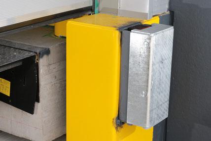 Anfahrpuffer zum Patent angemeldet in verzinkter Ausführung an der Außenschale