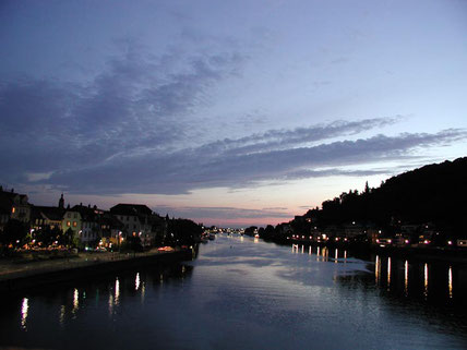 Romantische Schiffstour bei Nacht,, Betriebsausflug Heidelberg