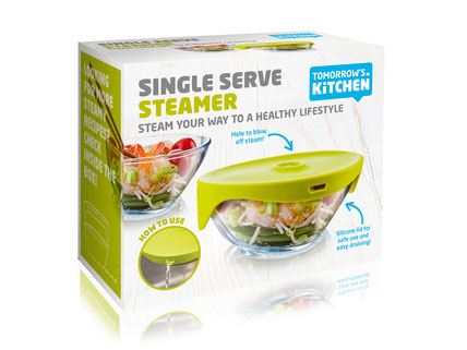 Tomorrows Kitchen Single Serve Steamer Dampfgarer grau
