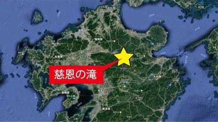 慈恩の滝 by Google Map