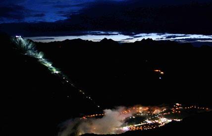 Brunnenkogelhaus, Sölden, ice Q , Nacht, beleuchtet