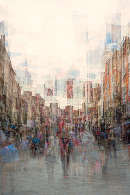 Street, of London, Mehrfachbelichtung in der Kamera