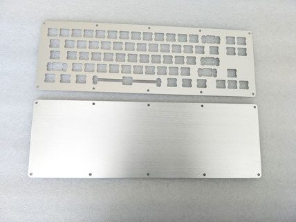 aluminium keyboard laser cutting with clear anodizing