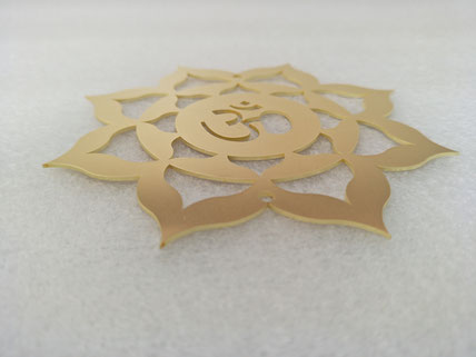 Brass laser cutting for Sacred Geometry parts