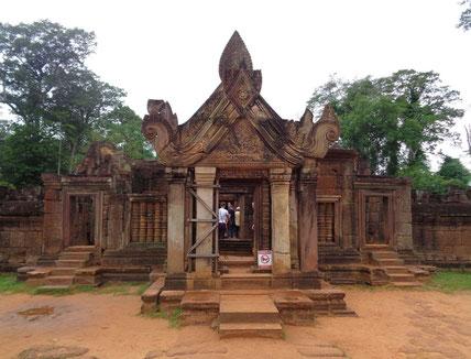 Der Eingangsbereich des Tempels
