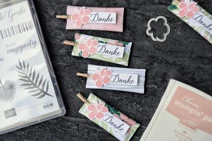 Stampin Up Tropenflair stempelnd durchs Jahr Goodie Verpackung basteln Stempeln selbermachen Designerpapier