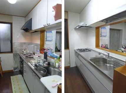 キッチンリフォームbeforeafter