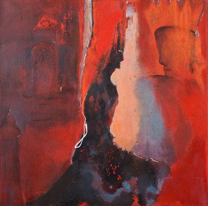 Visionen / Acryl auf Leinwand / 80 x 80 cm