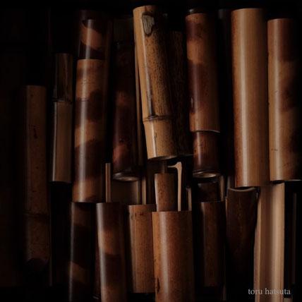 煤竹など美しい竹の端材は、いつか使う日のために