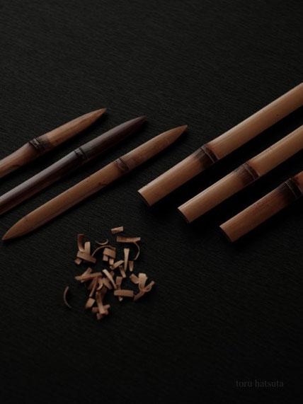煤竹の菓子切り、鋭意制作中