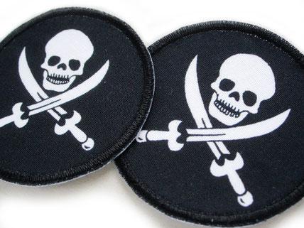 Bild: Piraten Flicken zum aufbügeln mit Totenkopf, skull Patch für Kinder