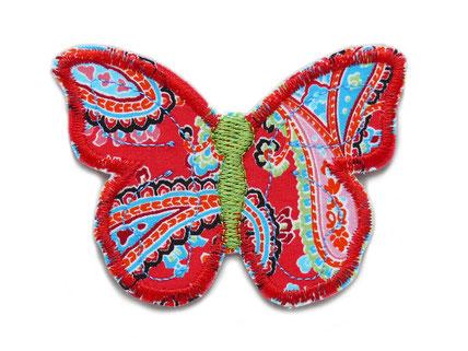 Bild: bunter schmetterling patch zum aufbügeln, bunte Blüten Flicken für Mädchen