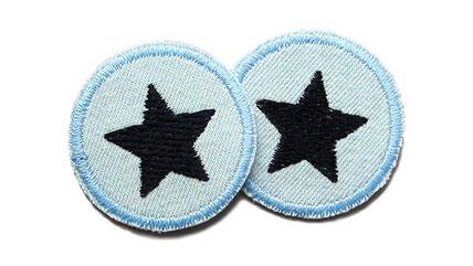 Bild: Jeansflicken Hosenflicken Stern schwarz Patch mini